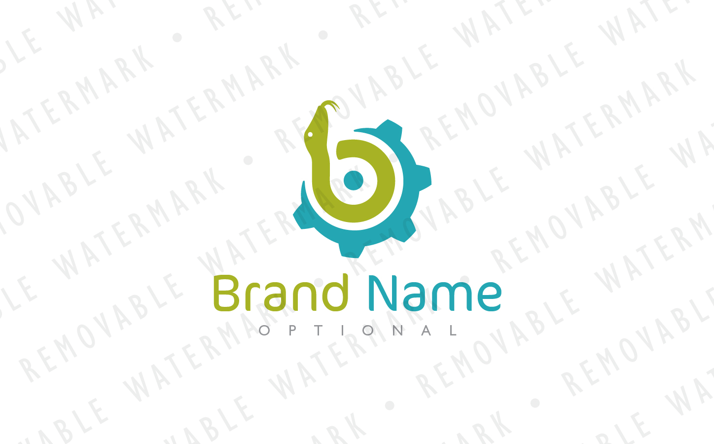 B Snake Technology Logo Template