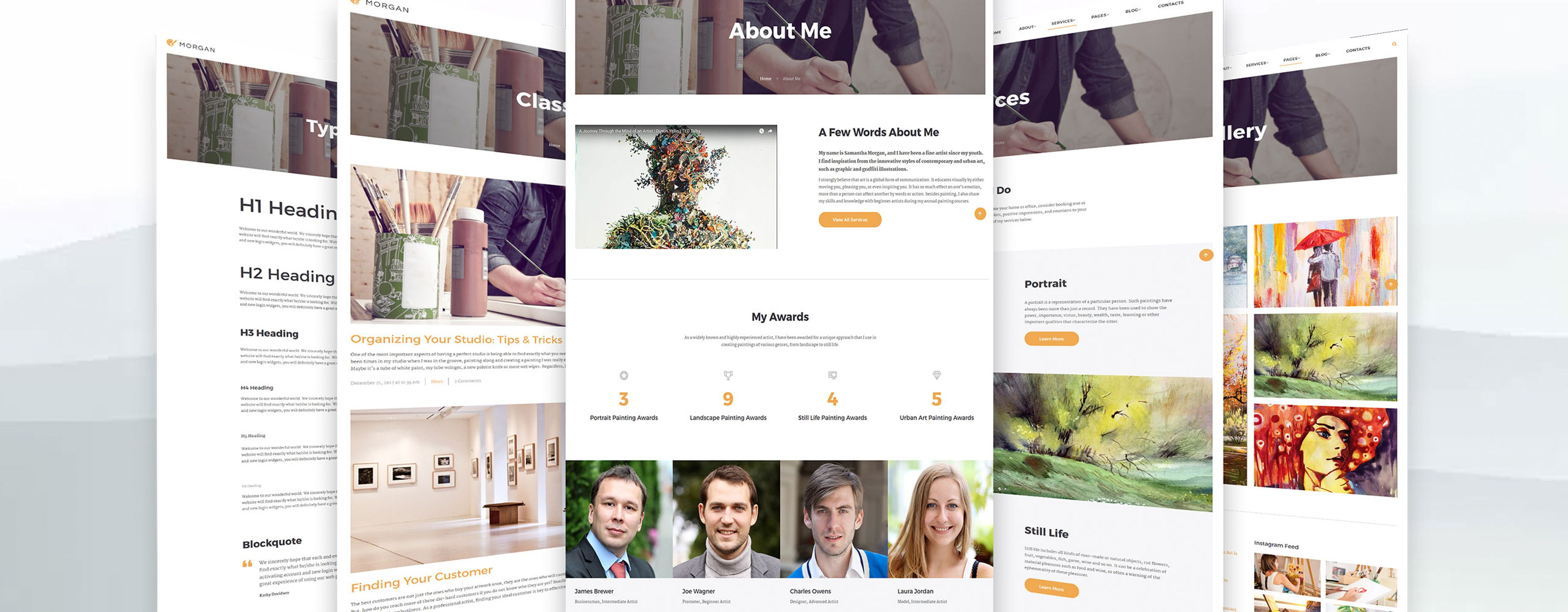 Morgan Website Template