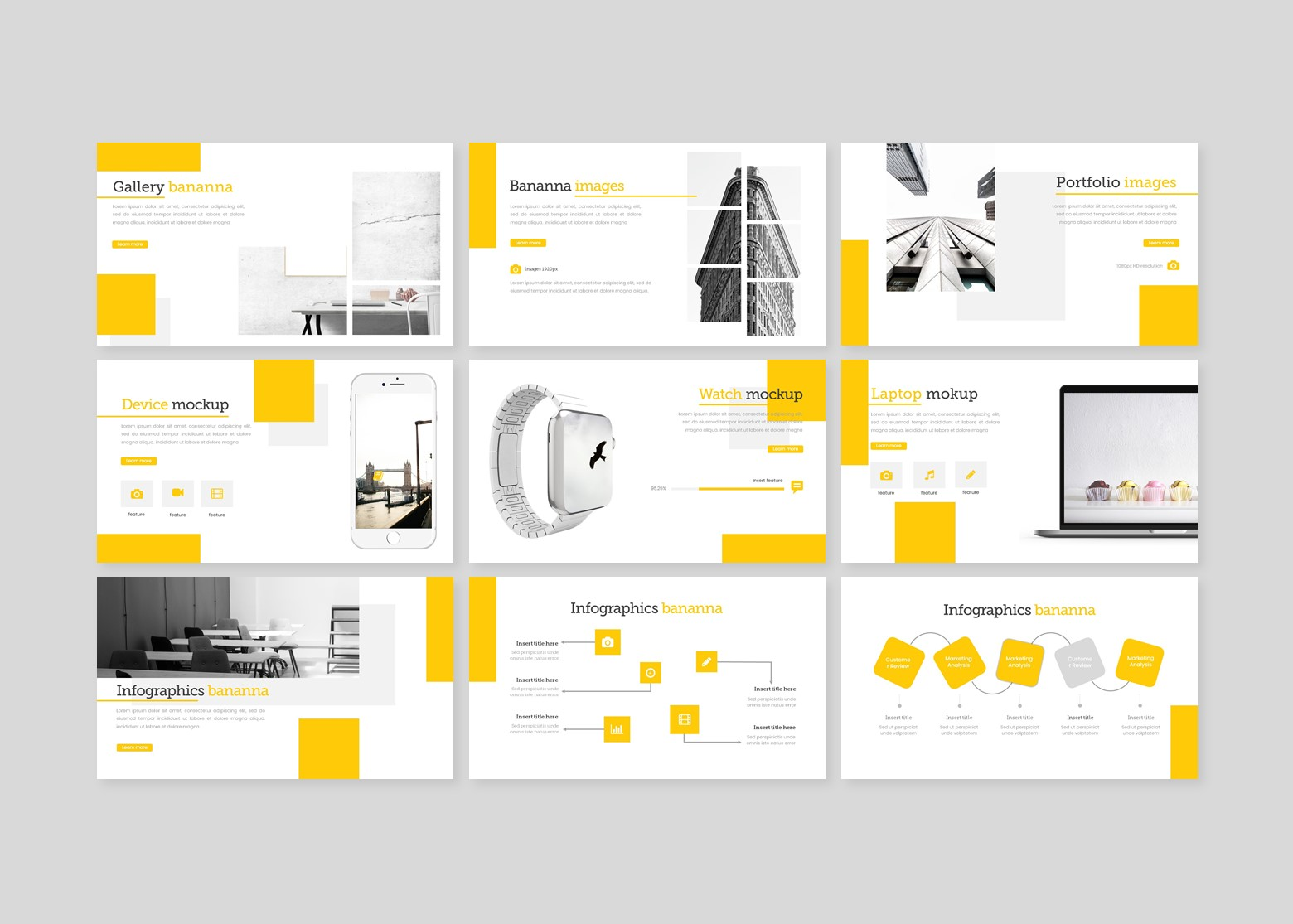 Bananna Creative Business PowerPoint Template