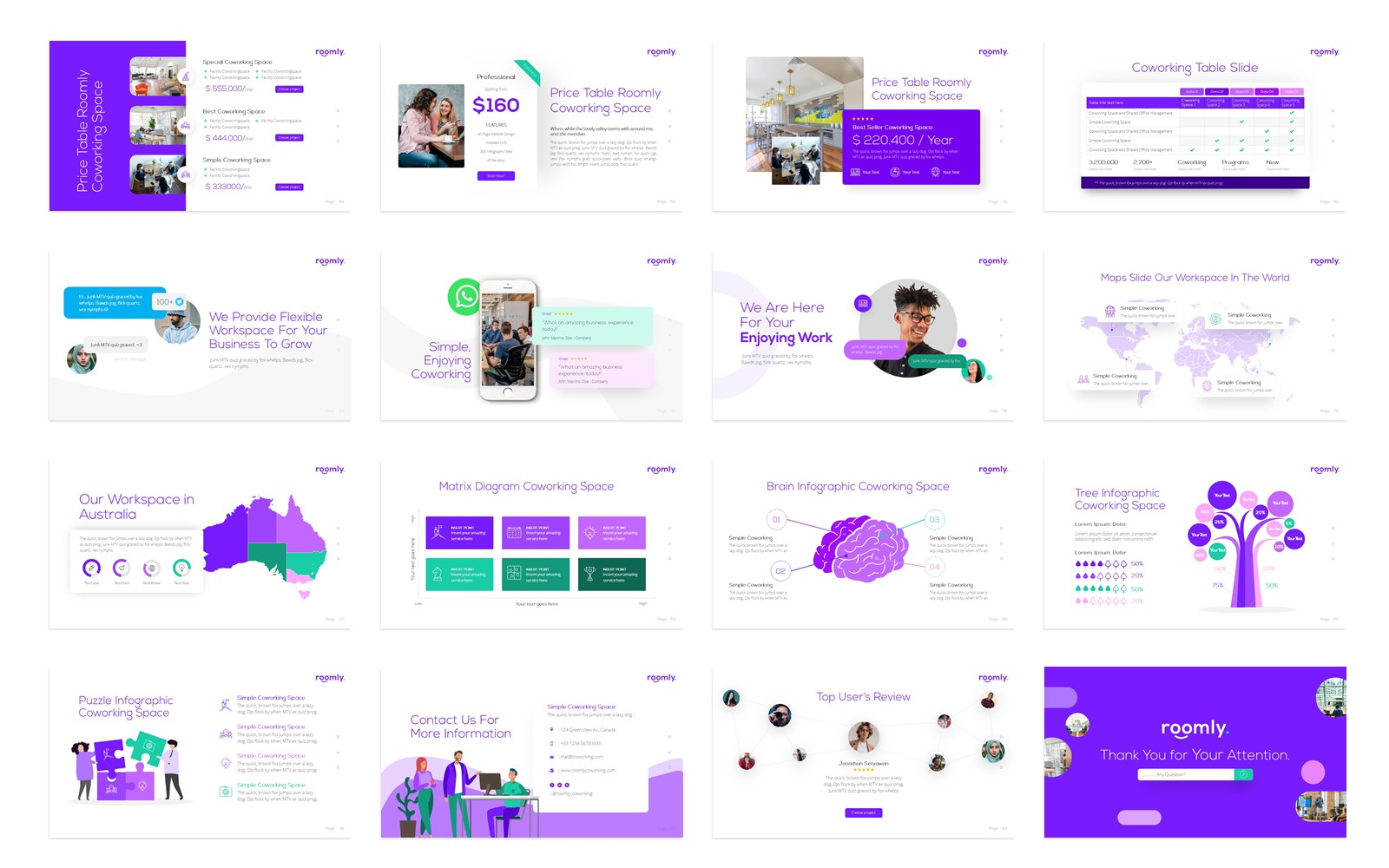 Roomly Co-working Space Presentation PowerPoint Template