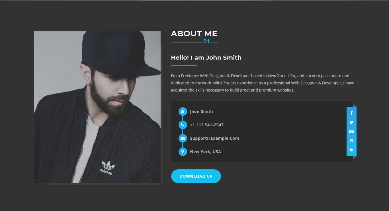 Treasure - Creative Portfolio Landing Page Template