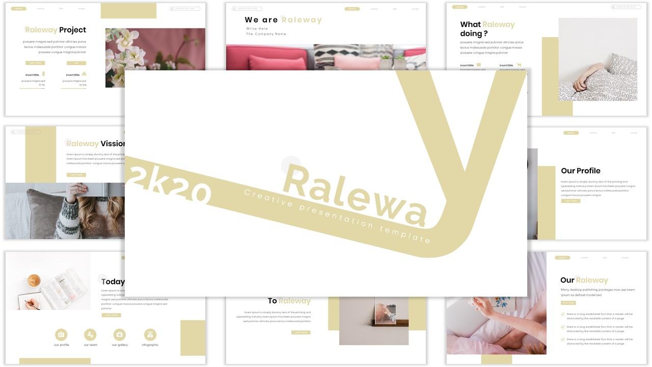 Raleway PowerPoint Template