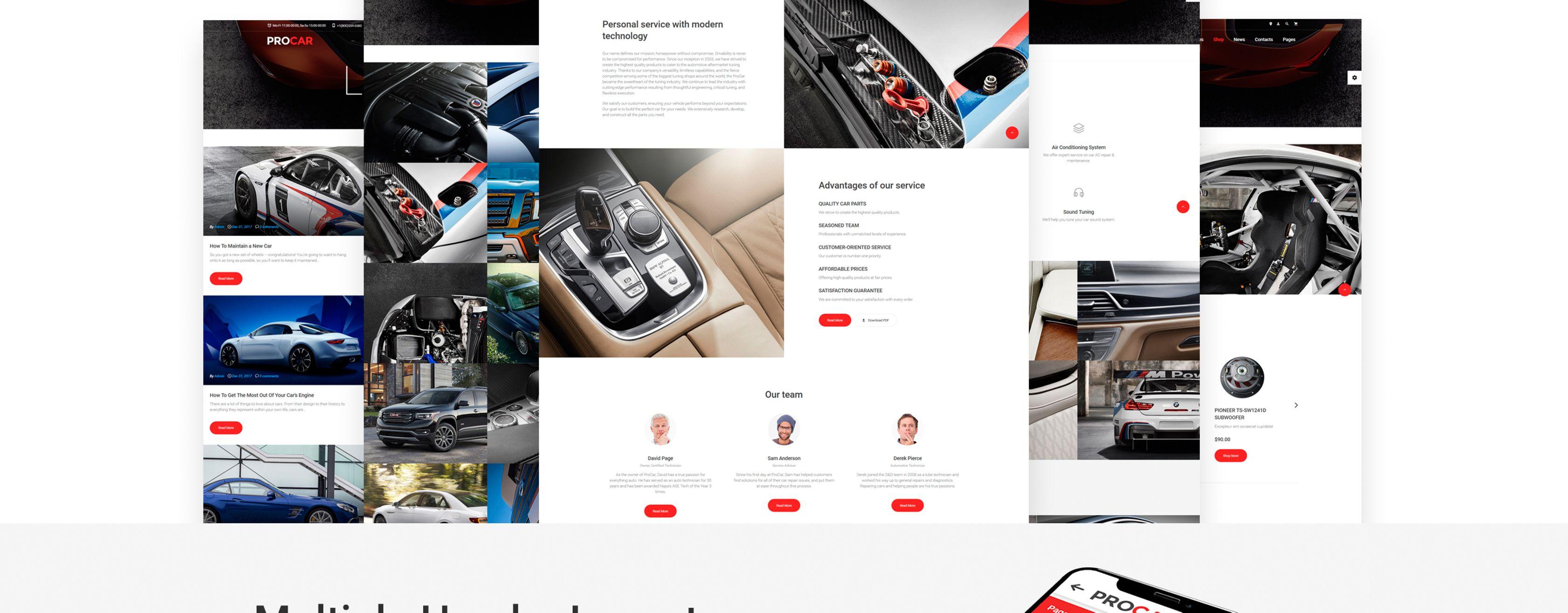 ProCar Website Template