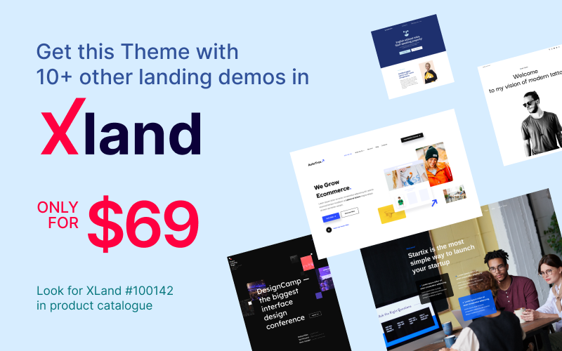 StartEricus - Clean and Minimalistic Startup Landing Page WordPress Theme