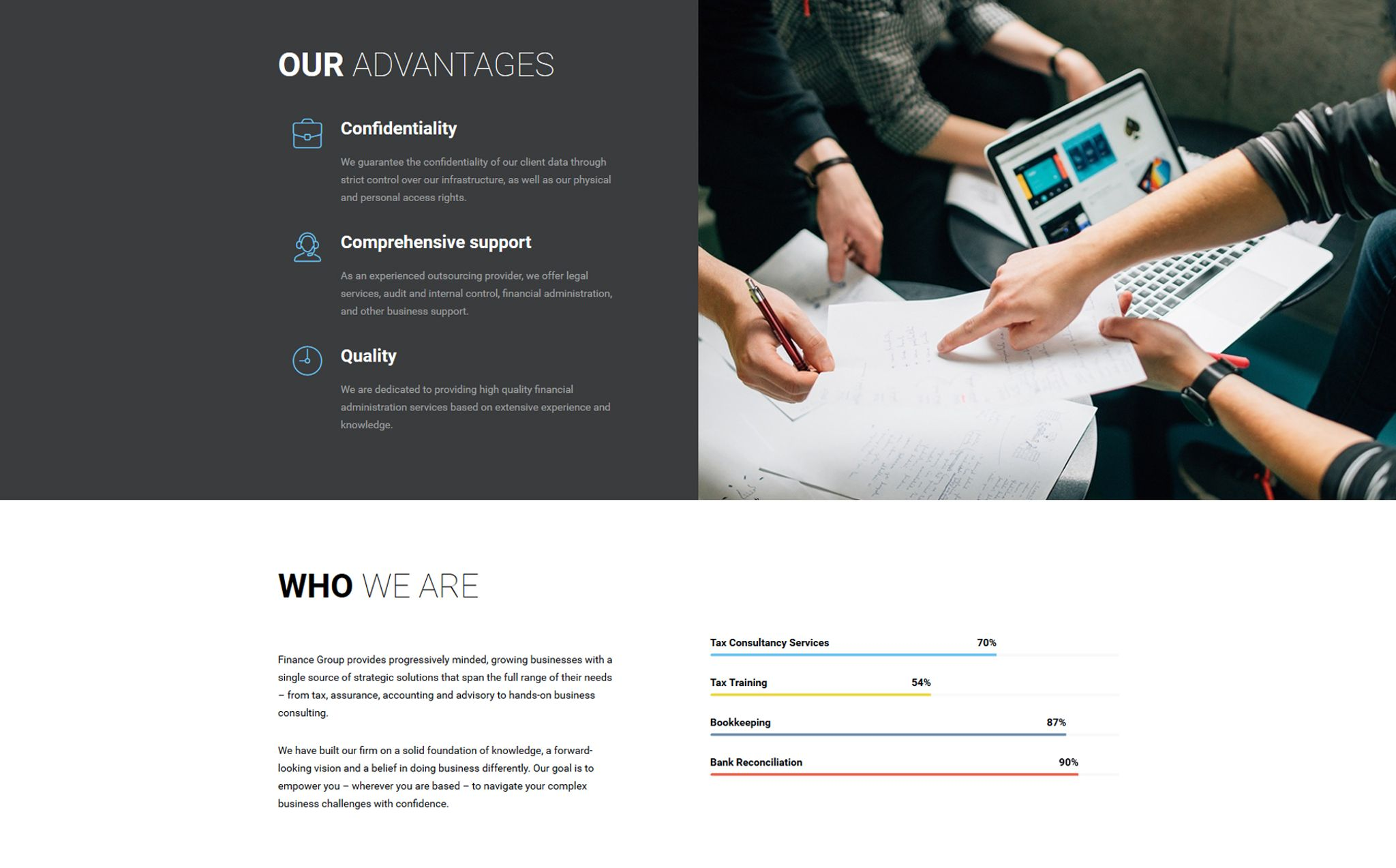 finance group accounting audit multipage html website template