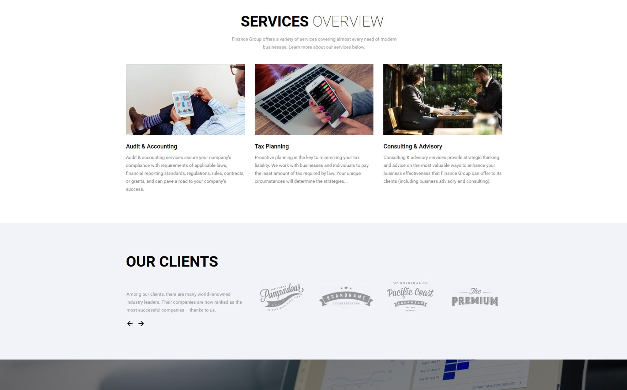 Finance group accounting audit multipage html website template maxwellsz