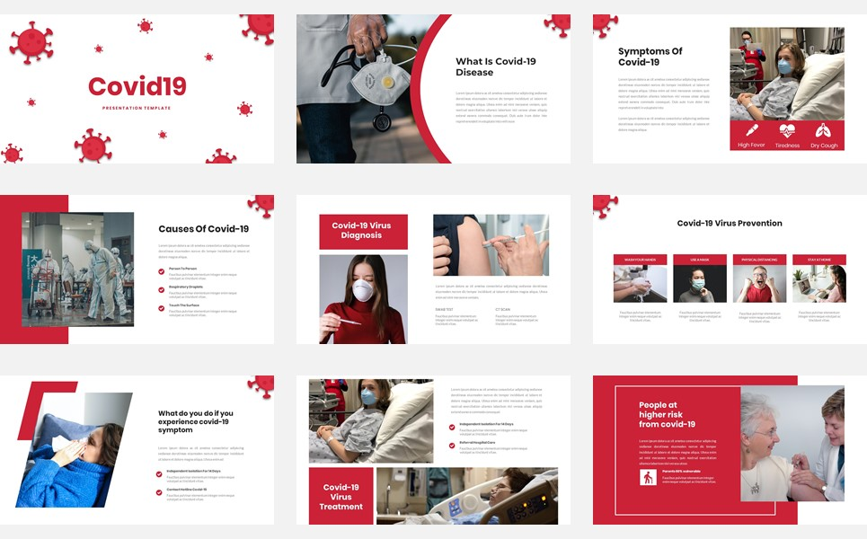 Covid19 - Presentation PowerPoint Template