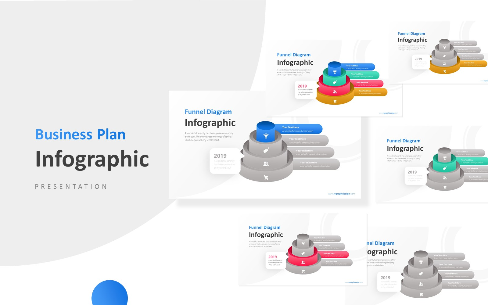 2019 Business Funnel Step Presentation PowerPoint Template