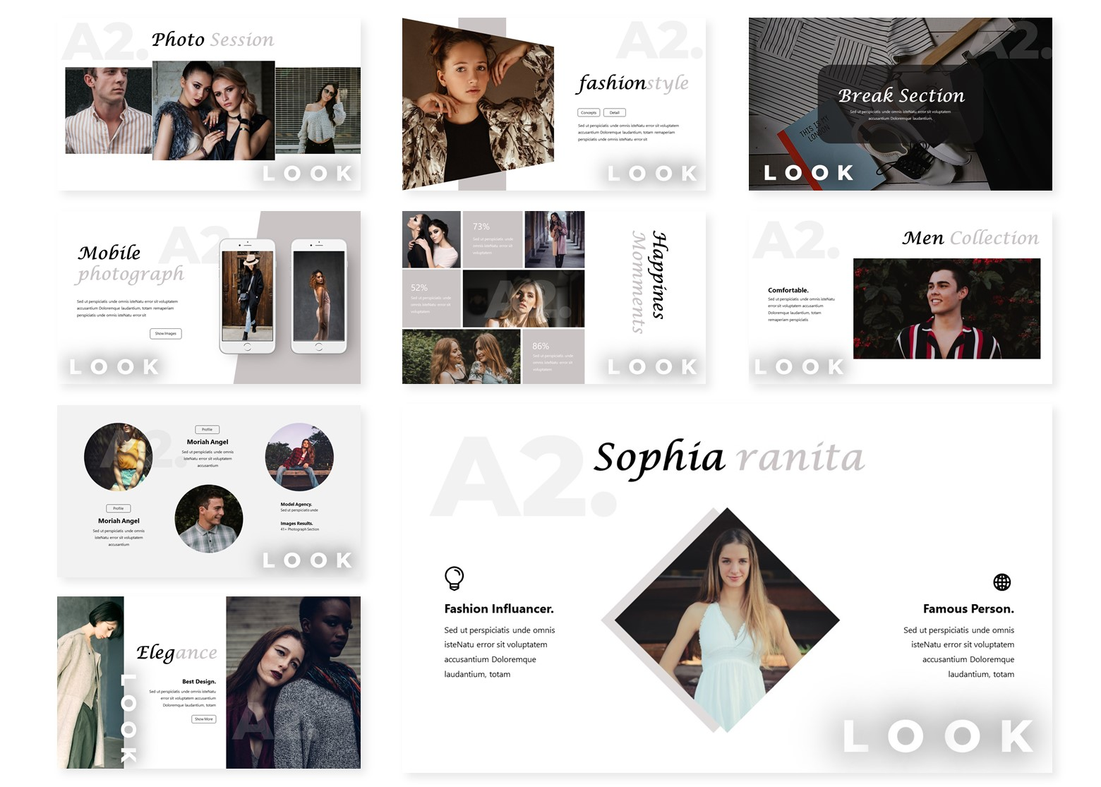 Lookby   PowerPoint Template