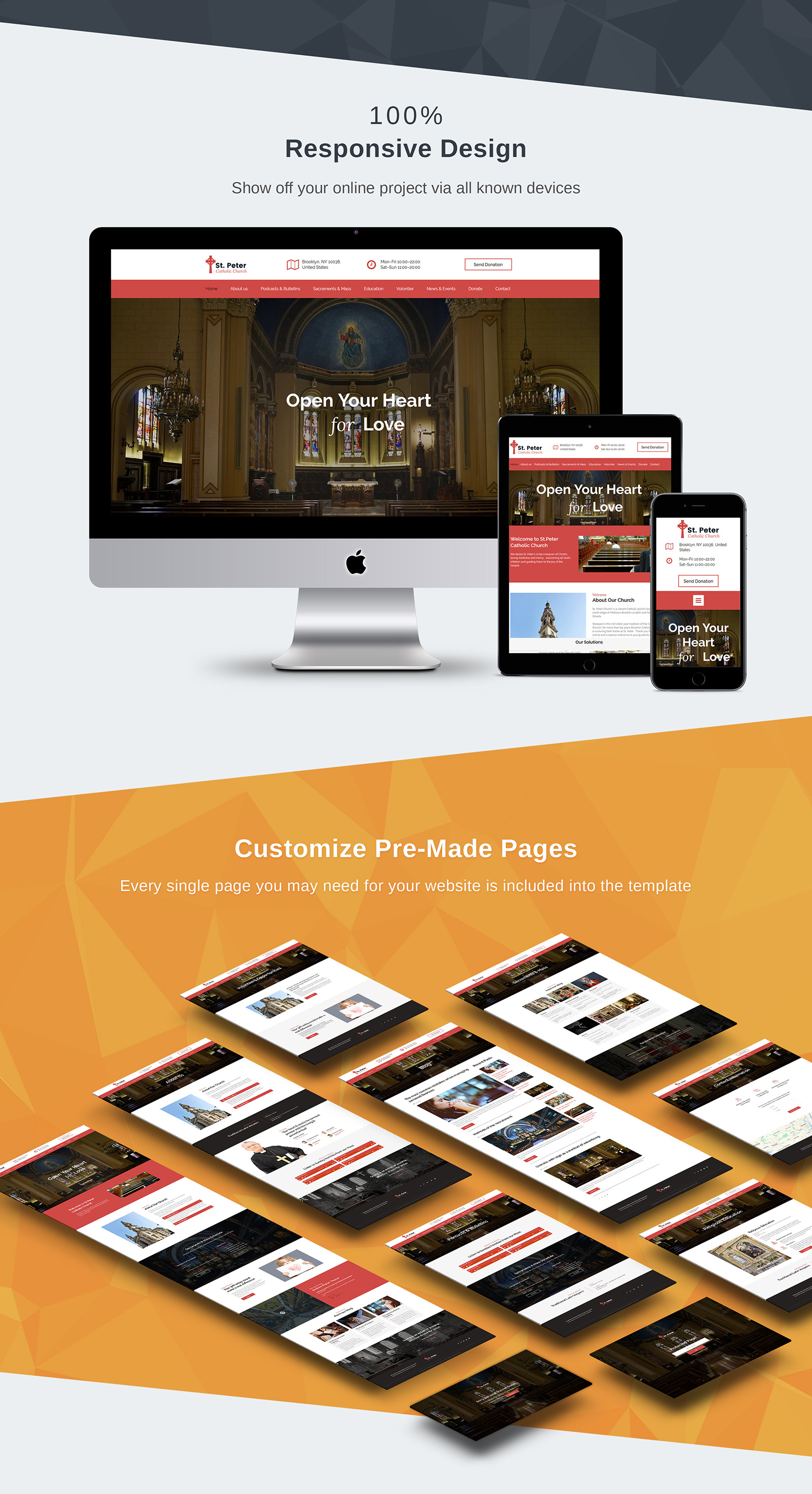 St. Peter - Catholic Church Moto CMS 3 Template