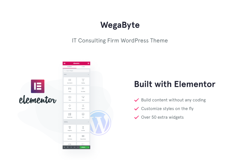WegaByte - Elementor-based IT Consulting WordPress Theme
