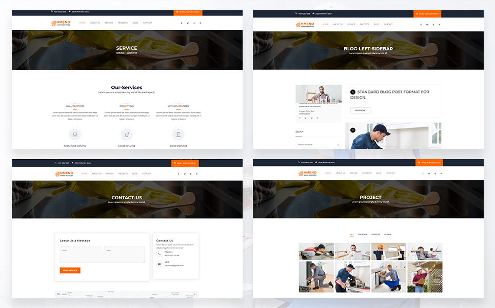 Hmend - Home Maintenance, Repair Service WordPress Theme