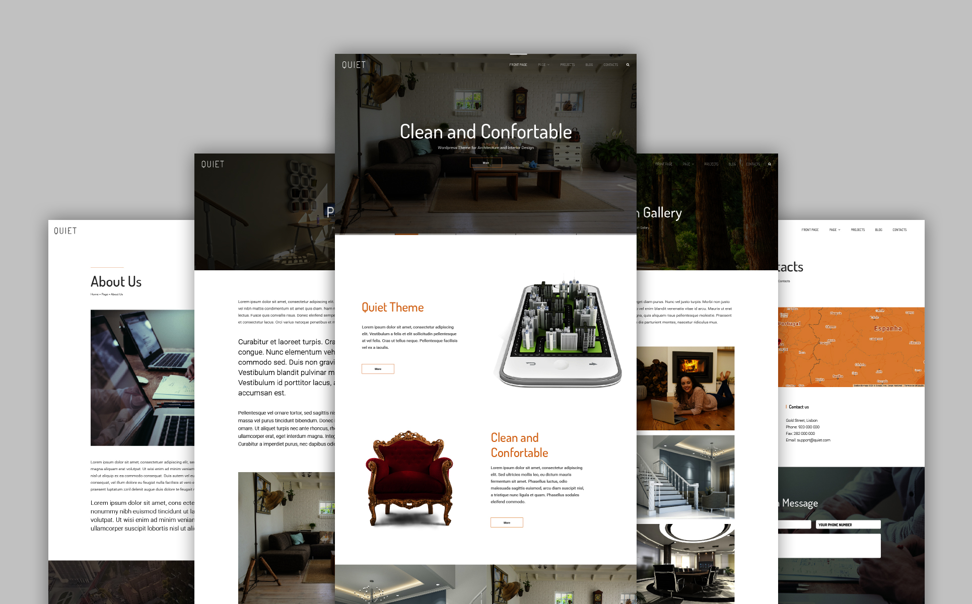 Quiet - Interior Design WordPress Theme