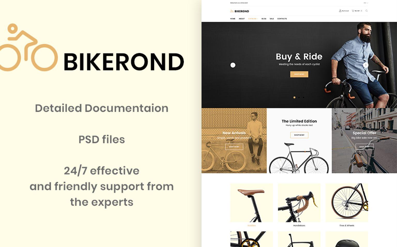 BikeRond - Bike Shop PrestaShop Theme