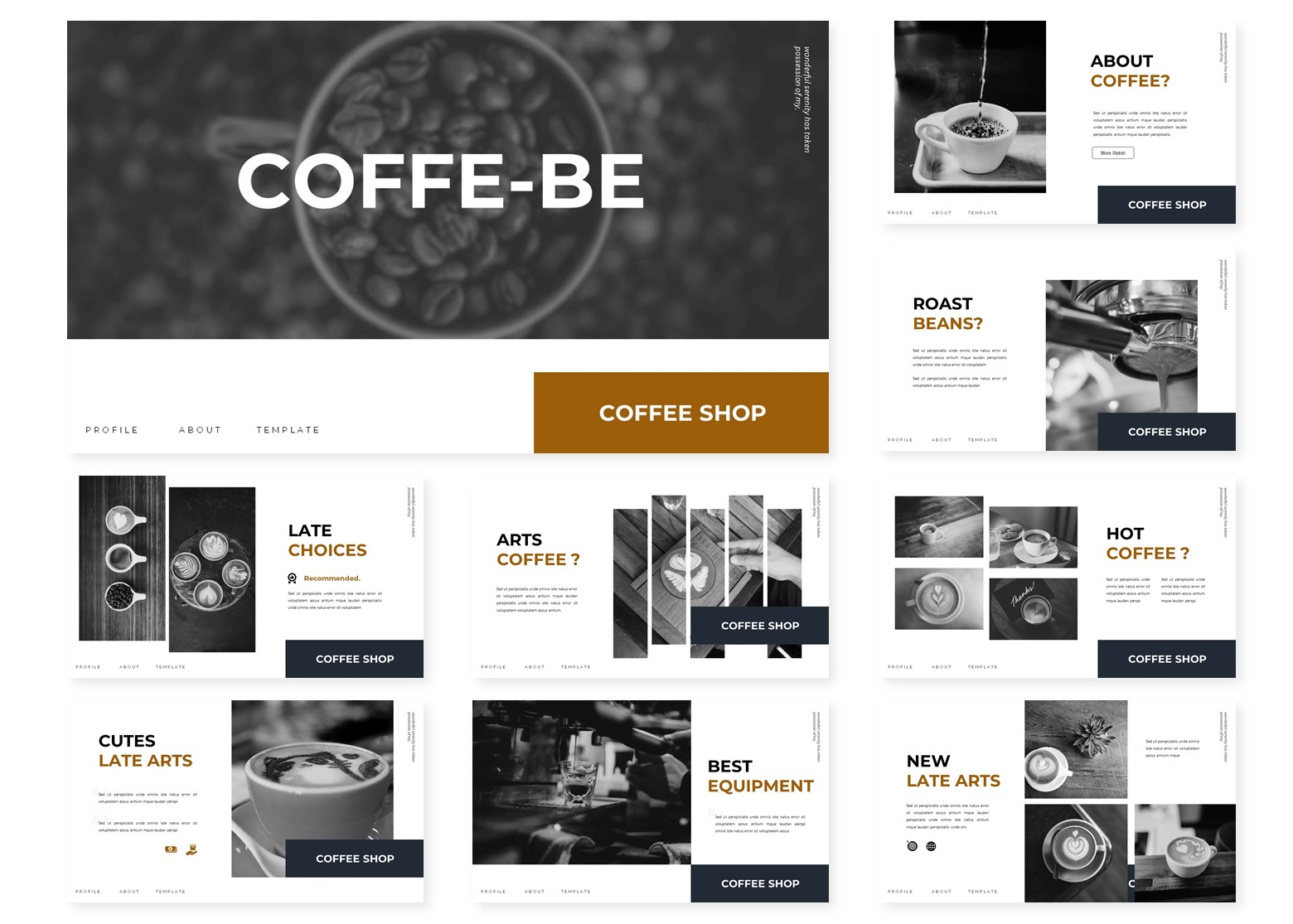 Coffe - Be | PowerPoint Template