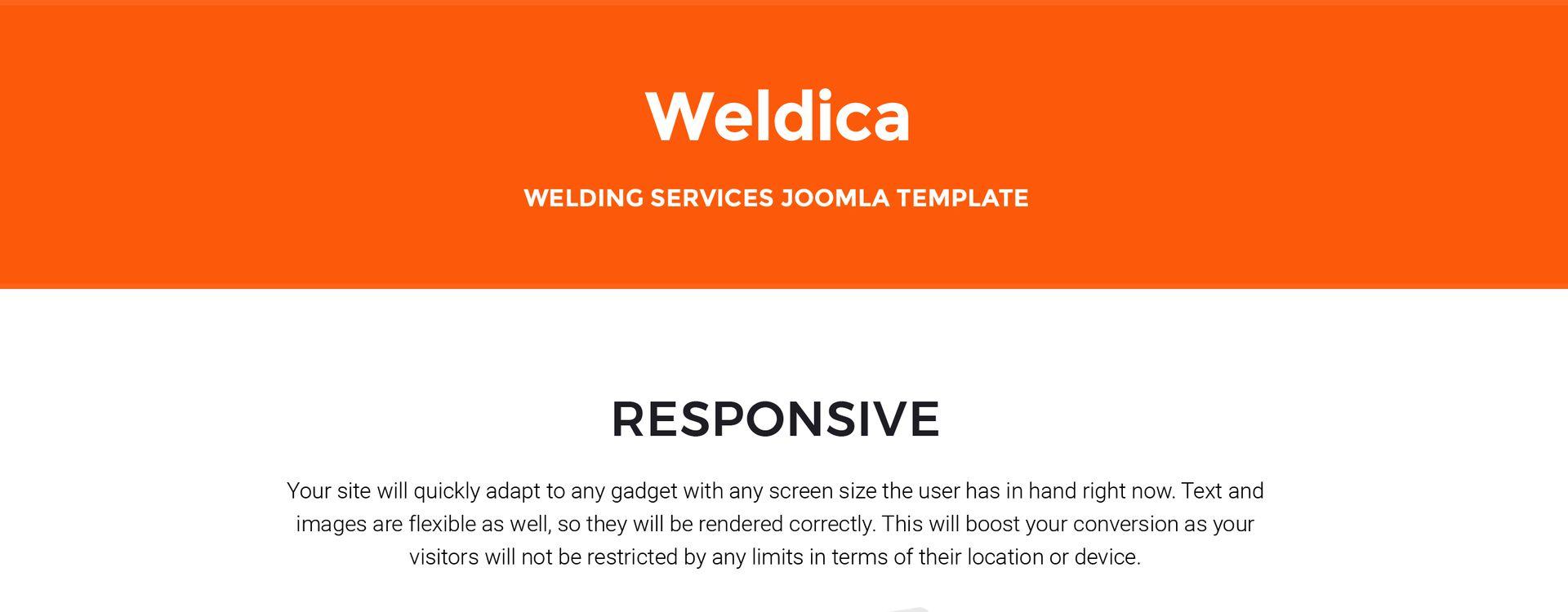 Weldica - Welding Services Joomla Template