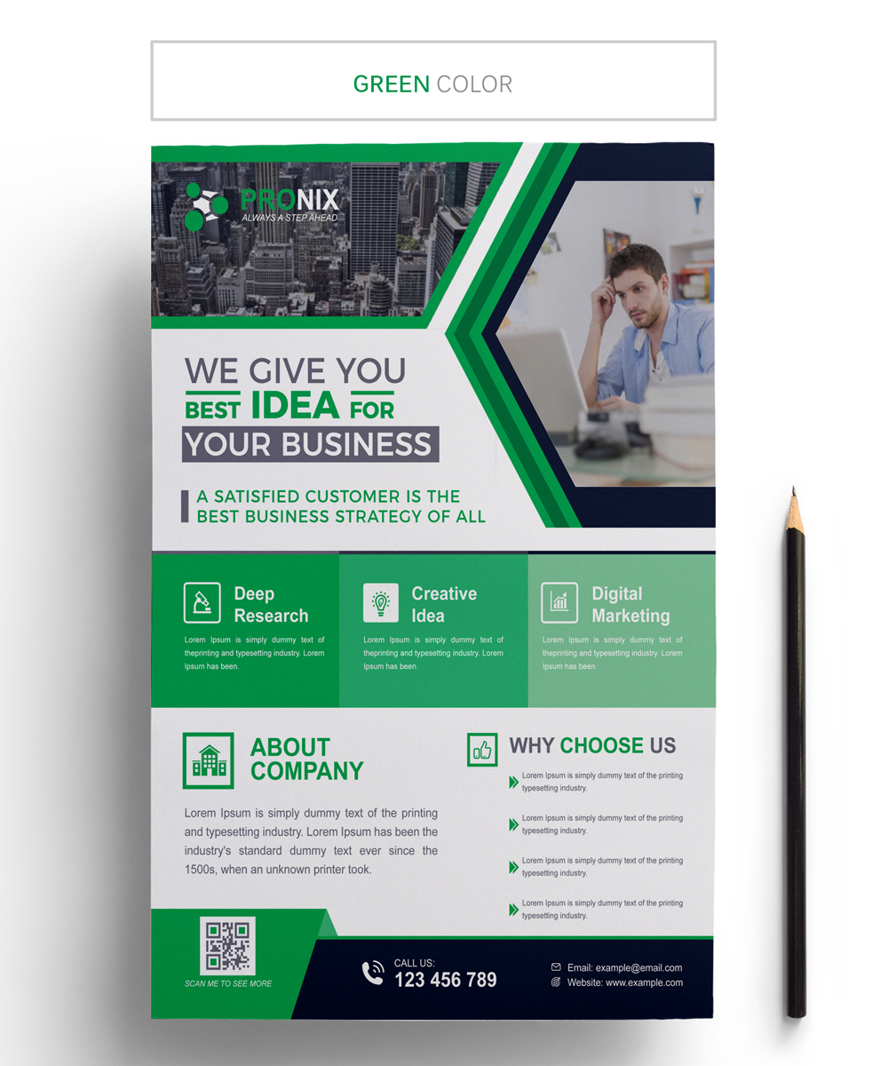 Pronix Business Flyer Corporate Identity
