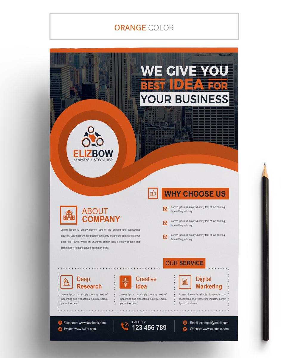 Elizbow Business Flyer Corporate Identity