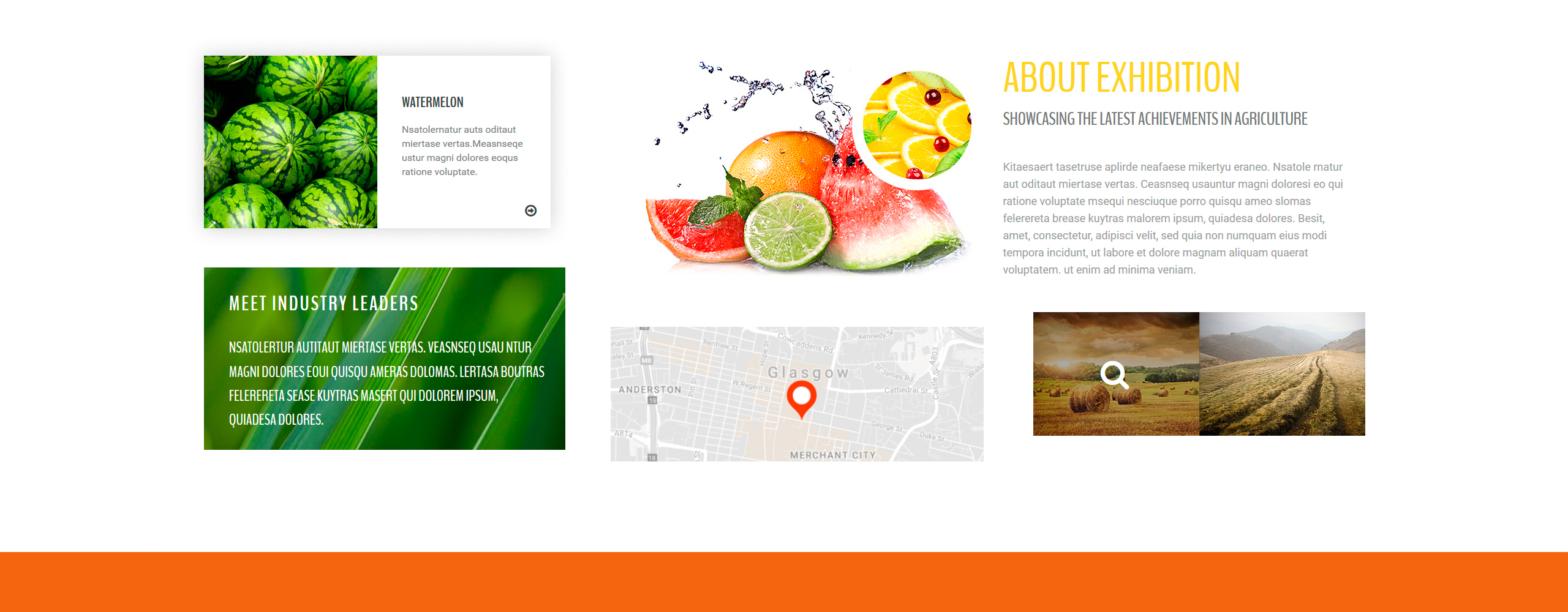 Agriplus - Impressive Agriculture Exhibition with Built-In Novi Builder Landing Page Template