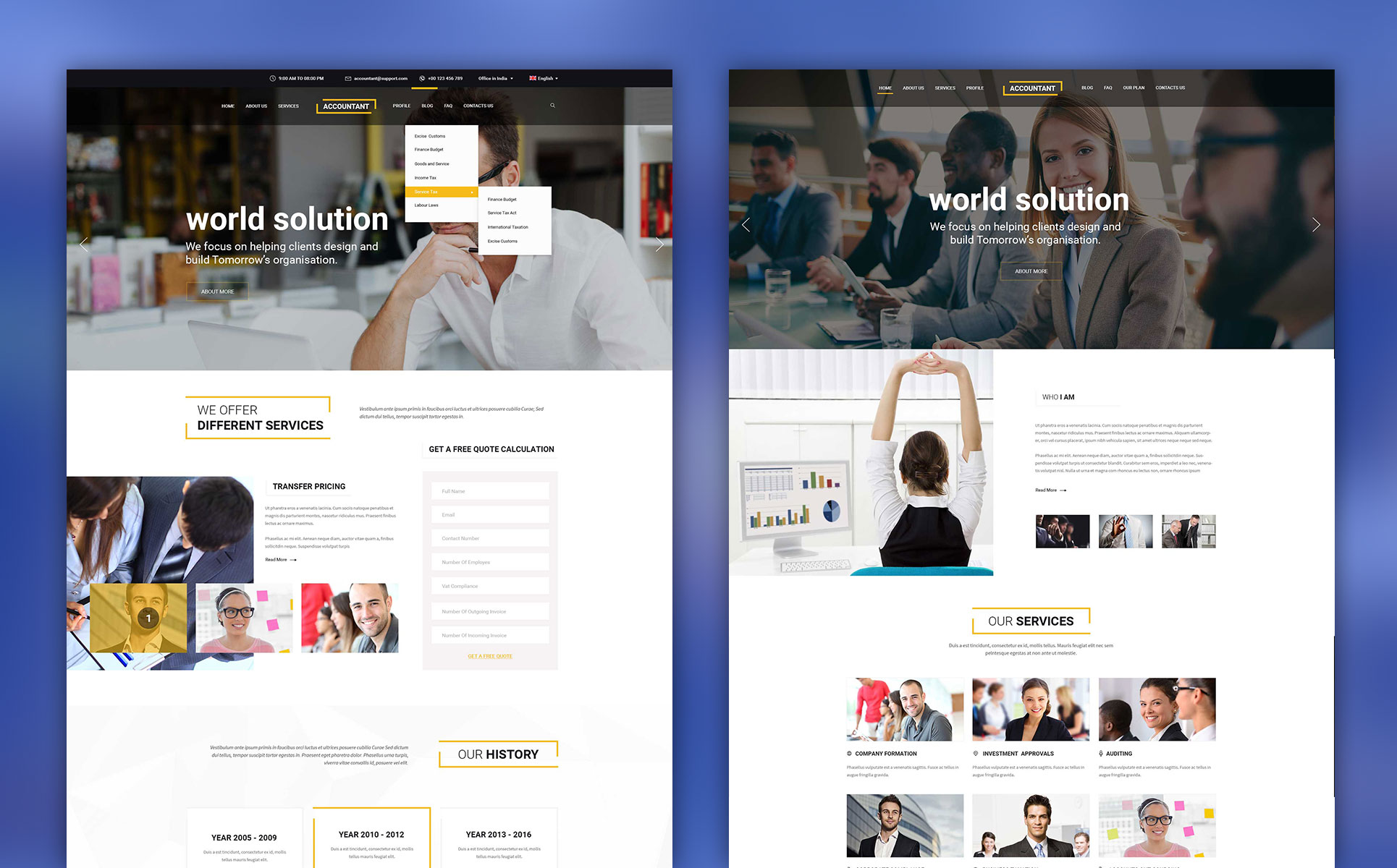 Accountant PSD Template