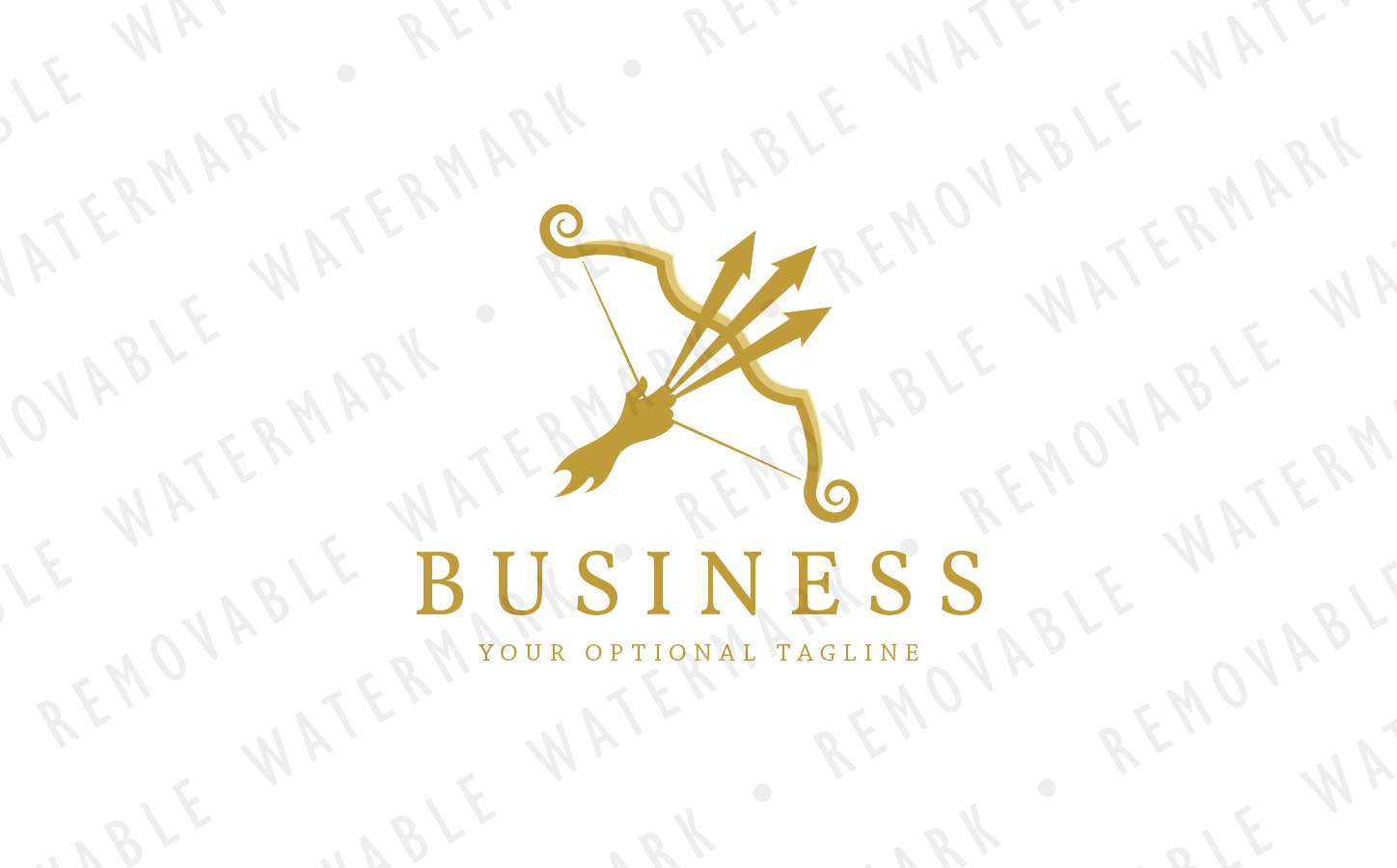 Triple Arrow Bow - Logo Template