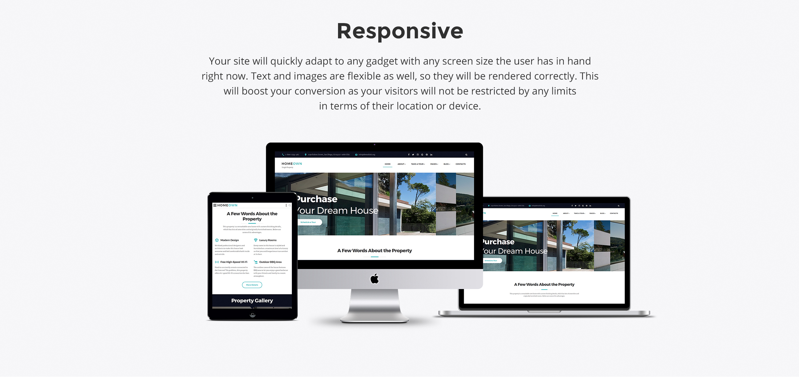 HOMEOWN Website Template