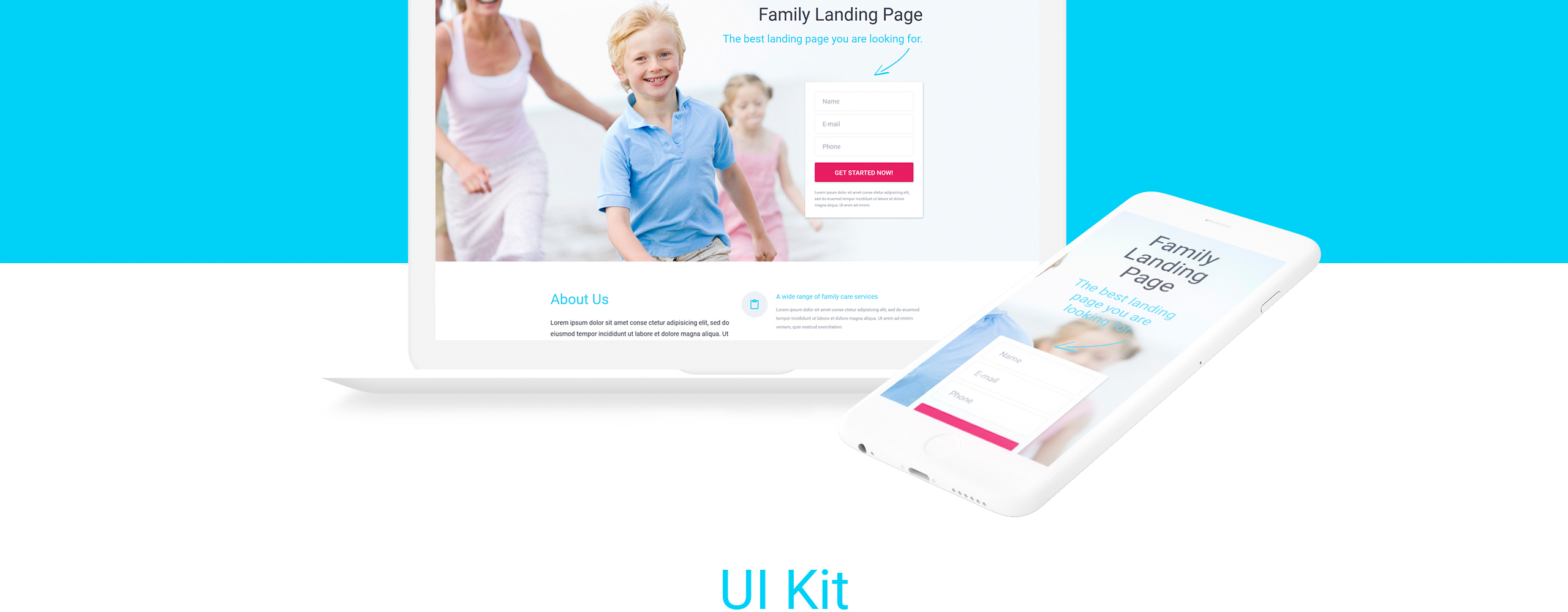 Family - Modern Medical Care Compatible with Novi Builder Landing Page Template