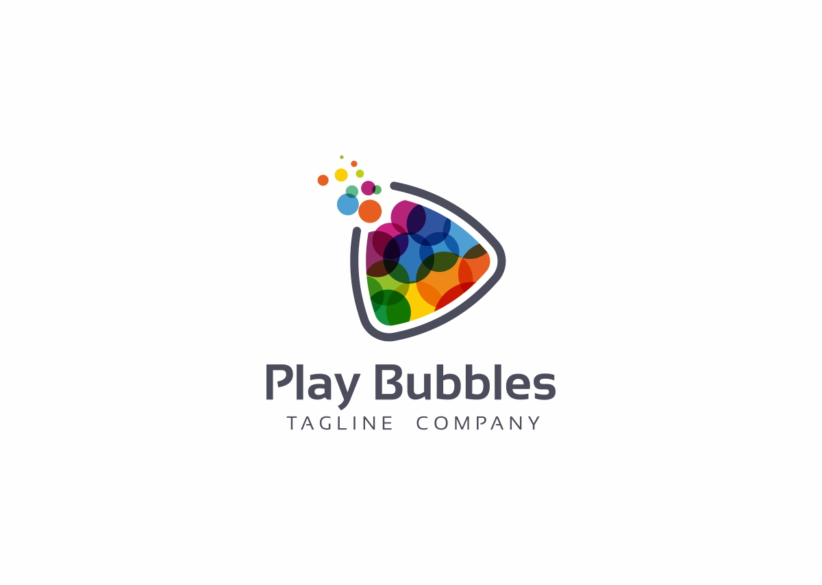 Play Bubbles Logo Template