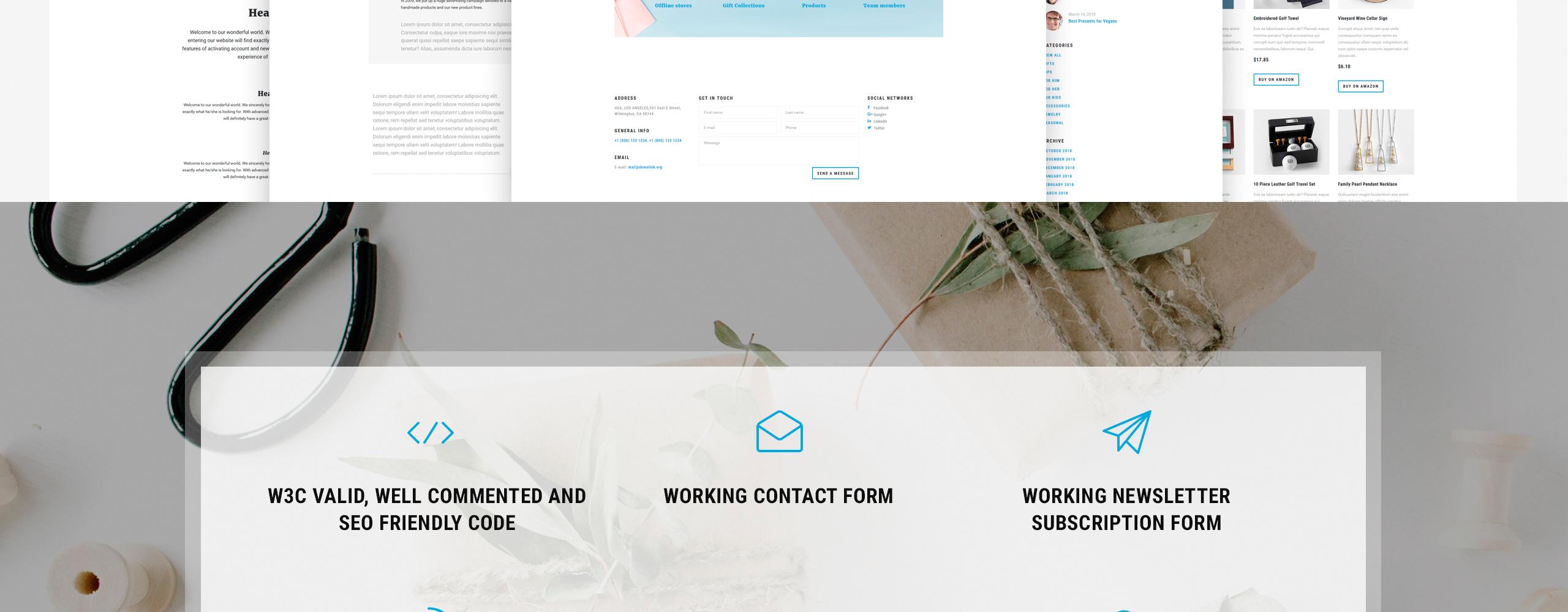 Gift Box Website Template