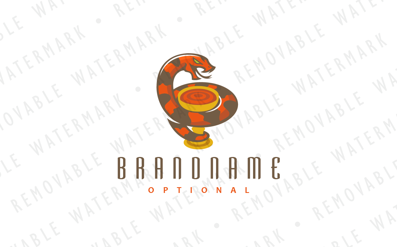 Snake & Chalice Logo Template