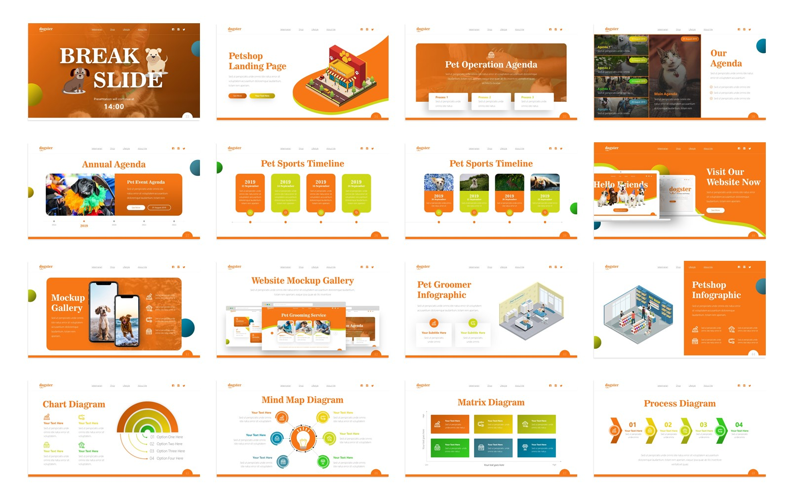 Dogster Animal Presentation Fully Animated PowerPoint Template