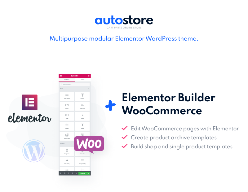AutoStore - Car Parts Elementor WooCommerce Theme