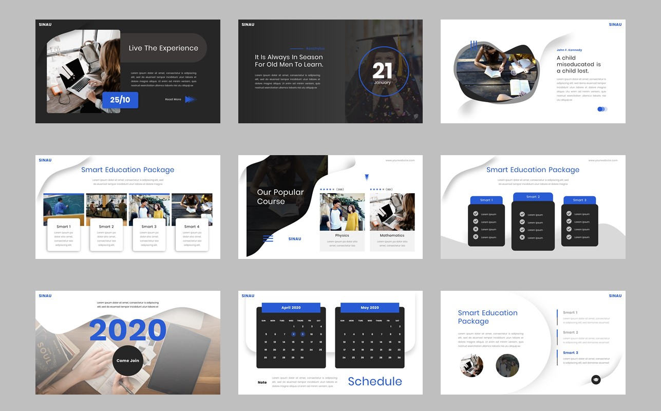 Sinau - Smart Education PowerPoint Template