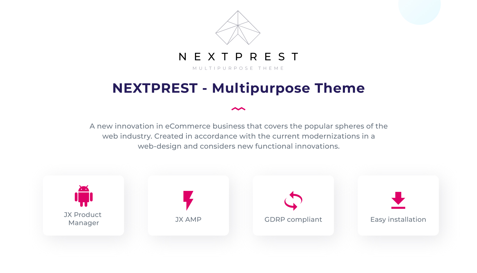 Nextprest  - Website Ecommerce Online Store PrestaShop Theme