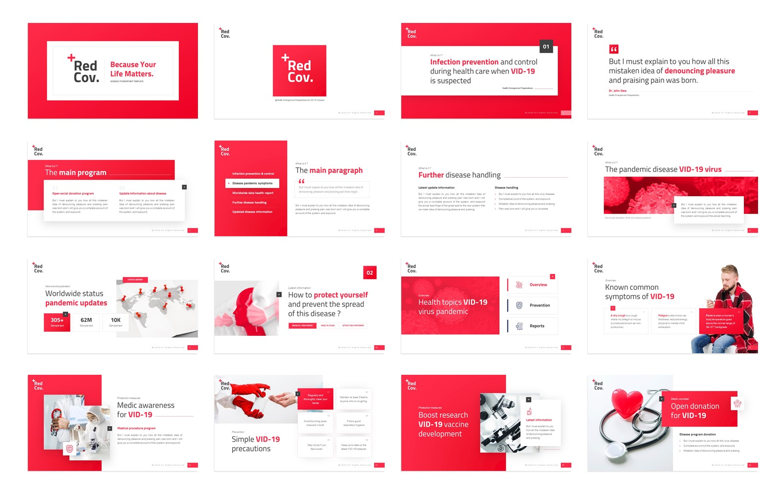 Redcov+ Science Presentation PowerPoint Template