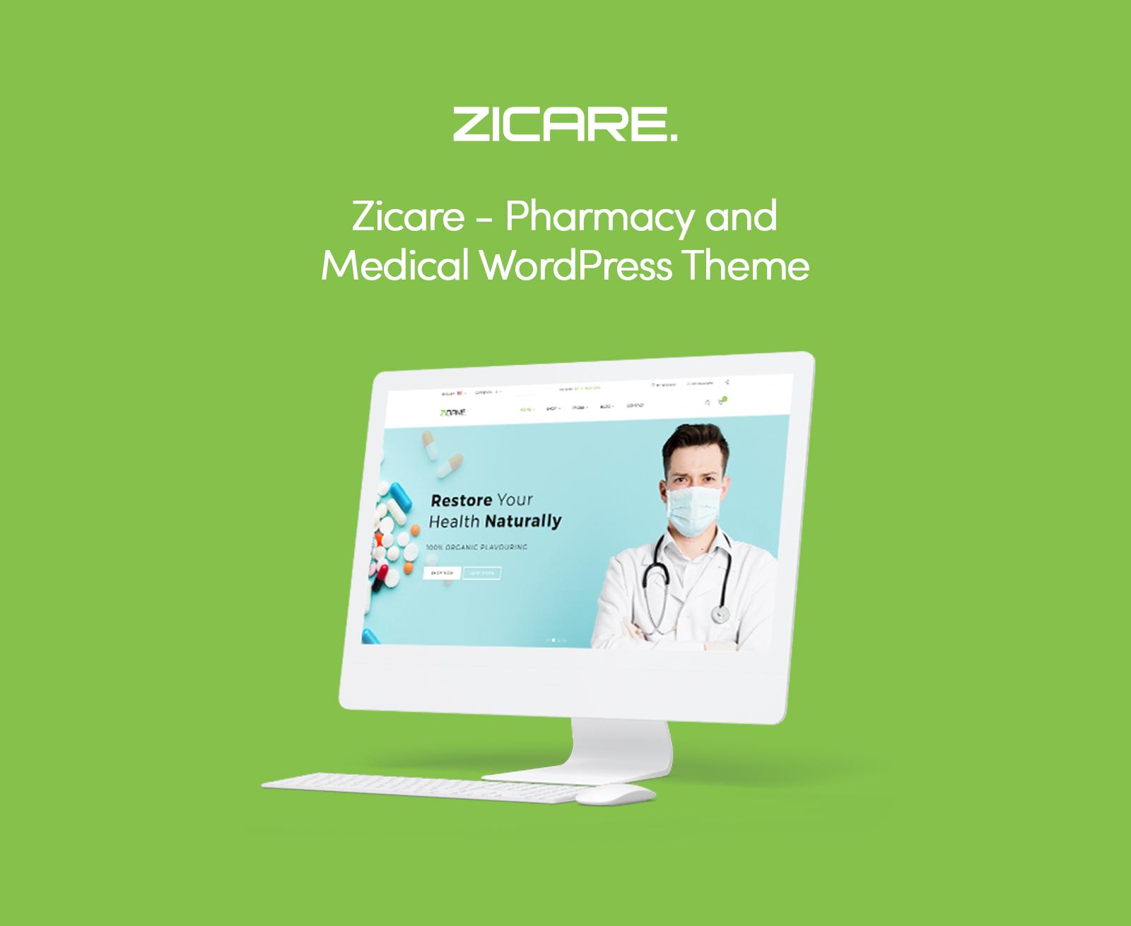 Zicare - Pharmacy and Medical WooCommerce Theme