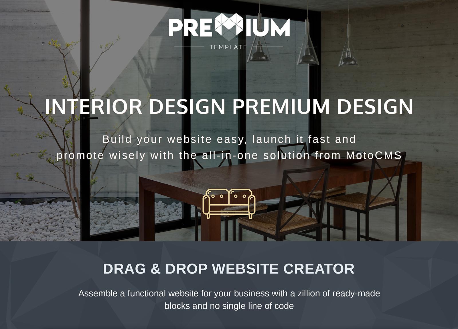 Clarity - Interior Design Moto CMS 3 Template