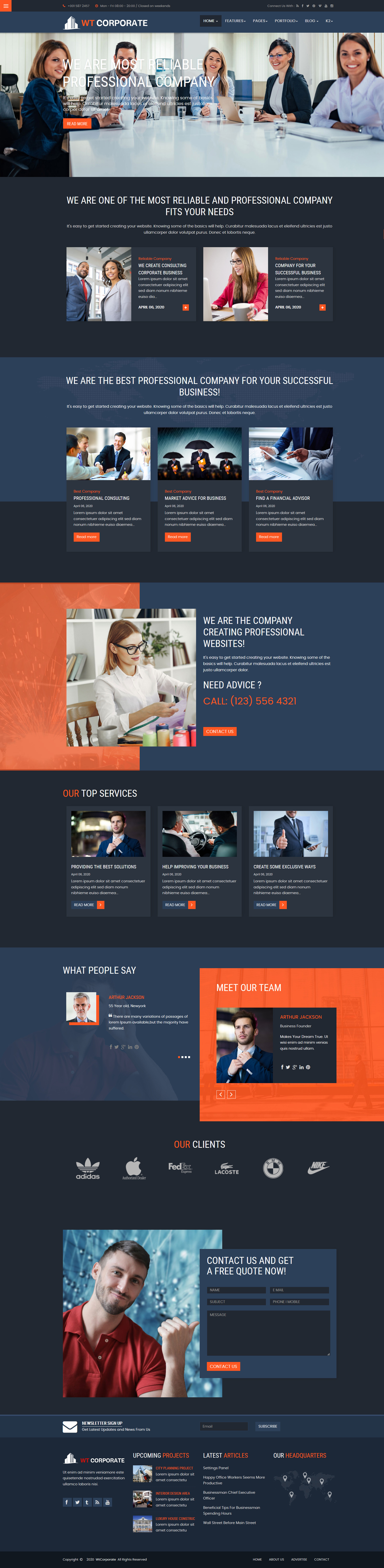 WT Corporate Business Joomla Template