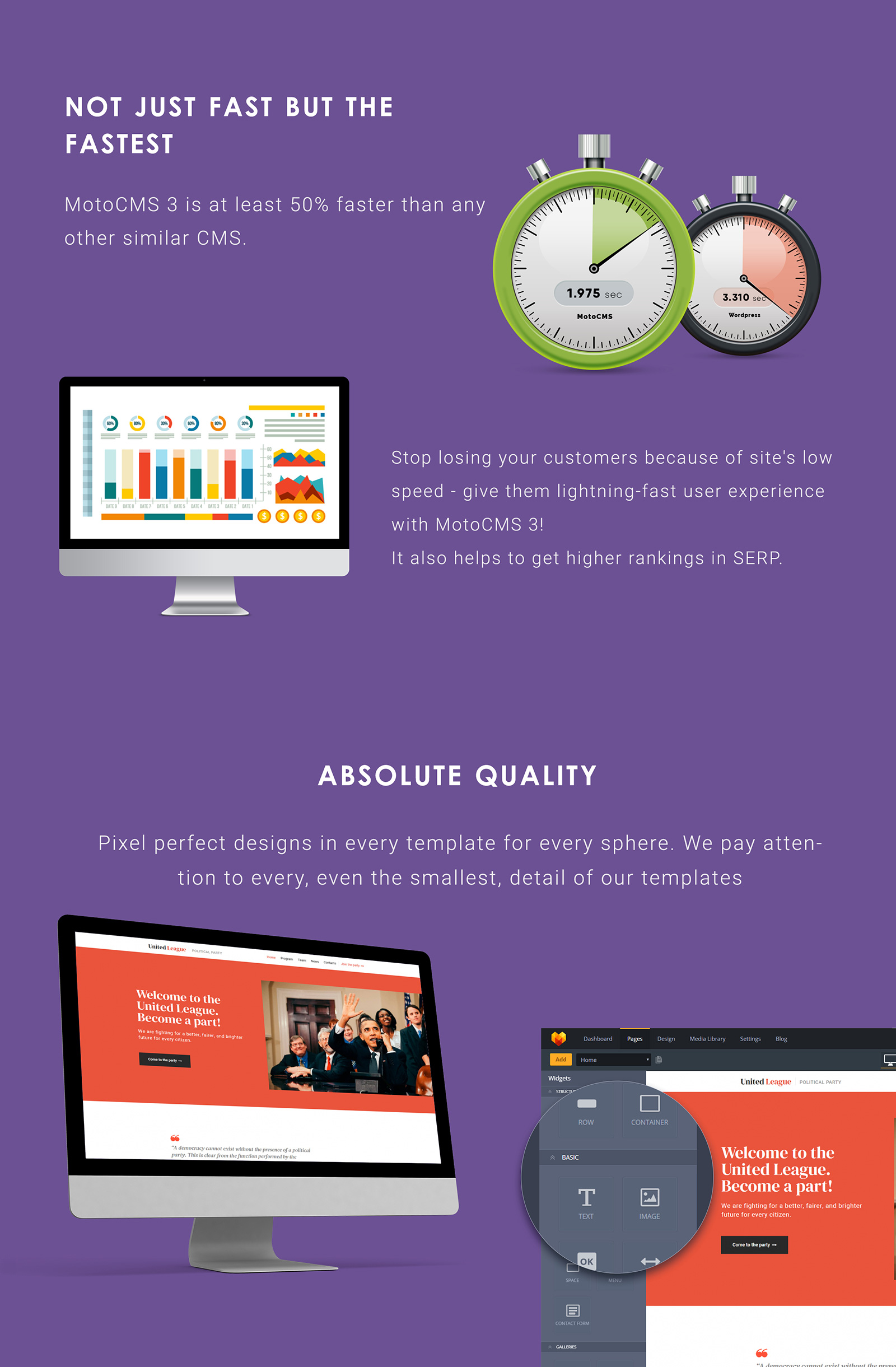 United League - Reliable Political Campaign Moto CMS 3 Template
