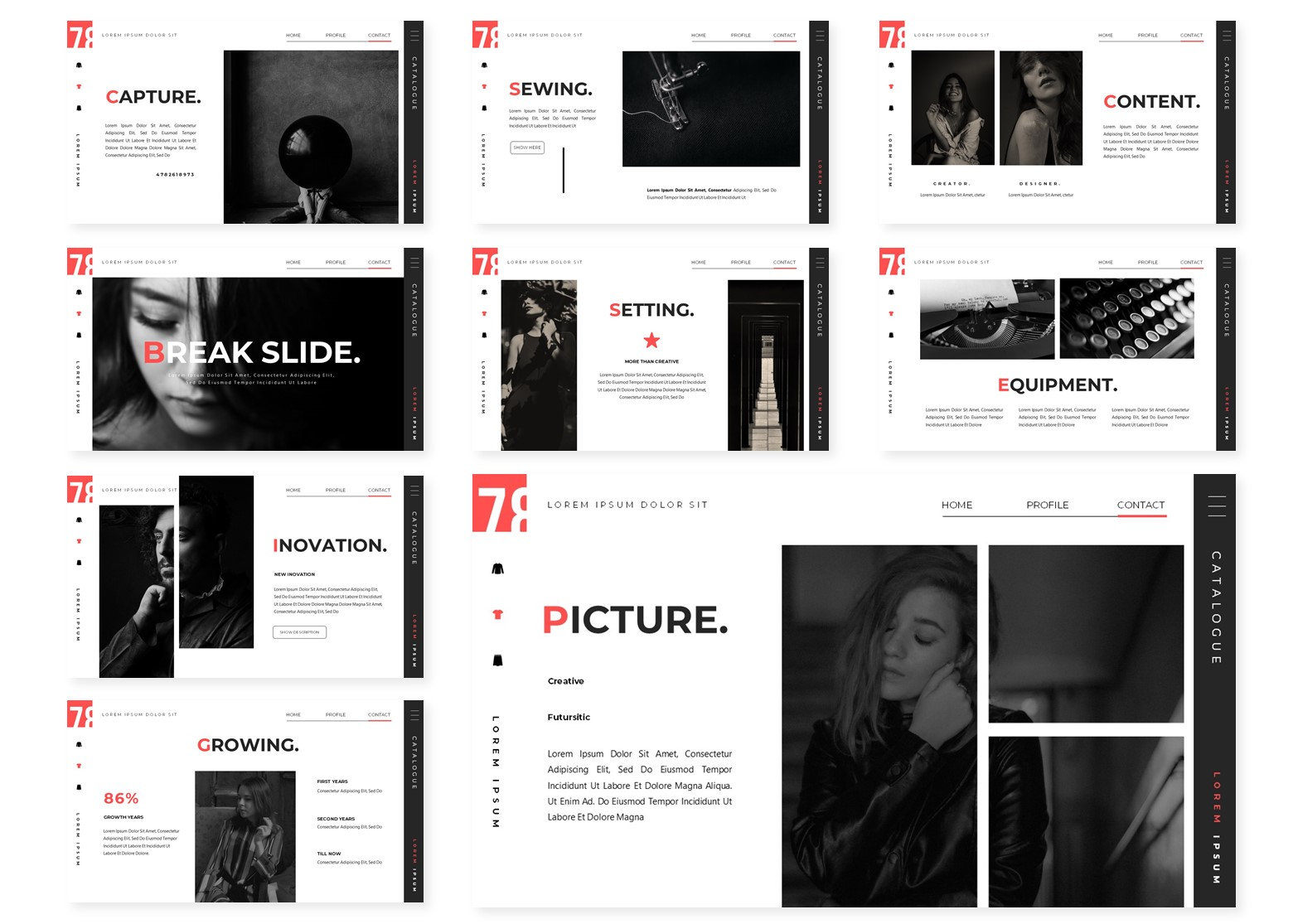 The Blacks | PowerPoint Template
