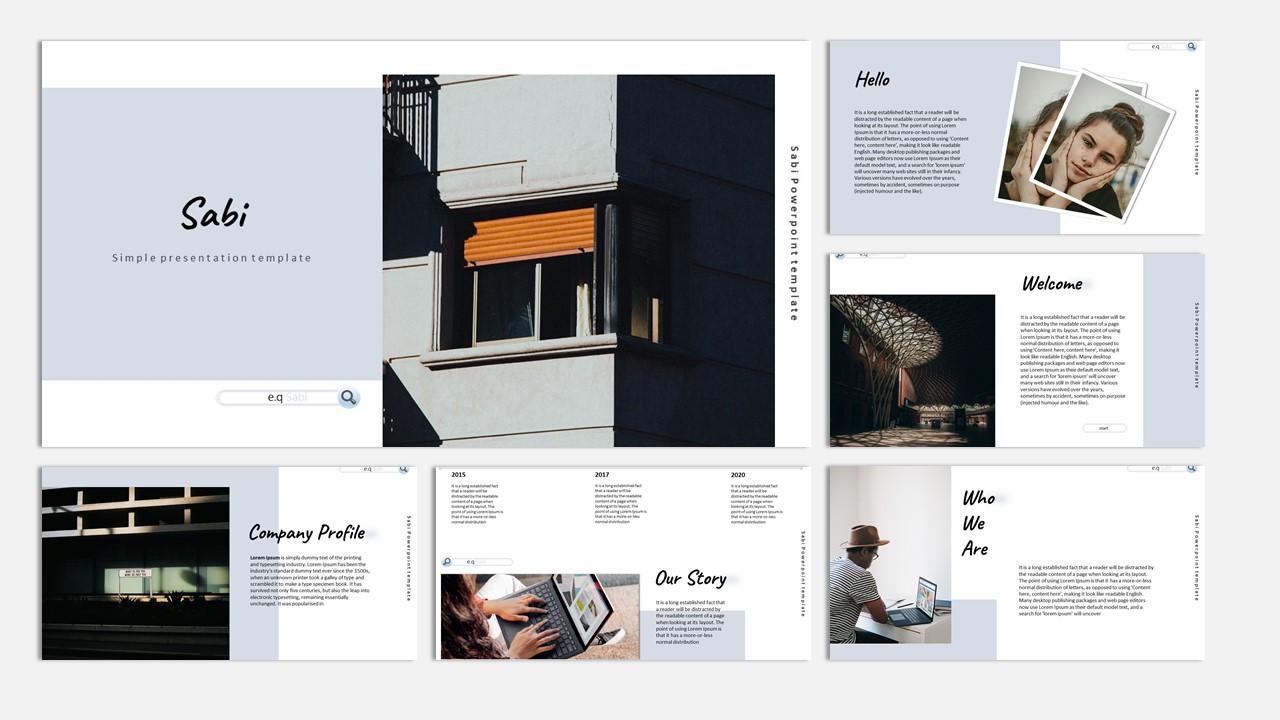 SABI Creative Business PowerPoint Template