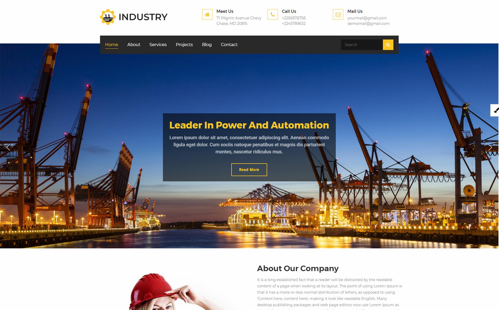 Industry - Multipurpose WordPress Theme