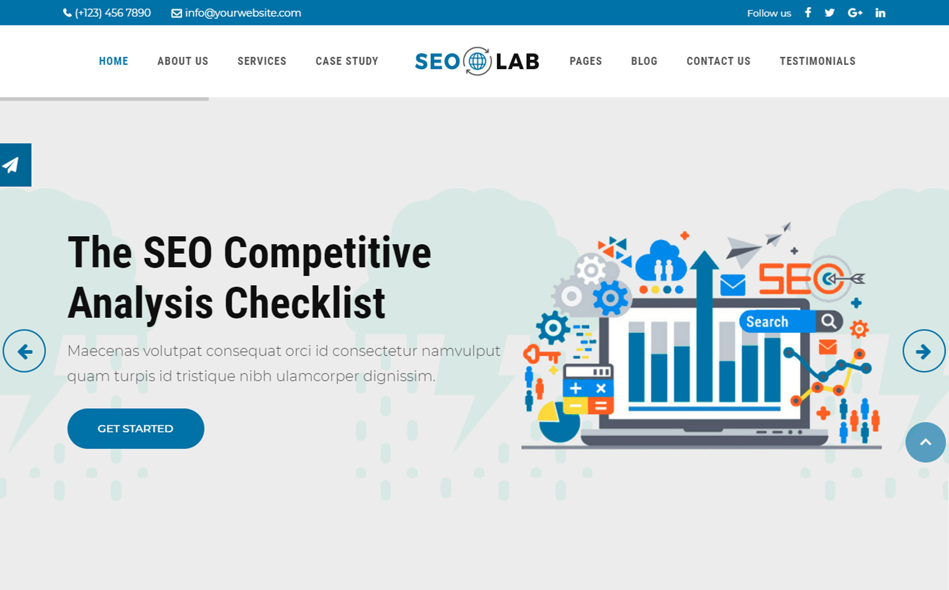 SEOLAB -  SEO & Digital Marketing Agency HTML Website Template