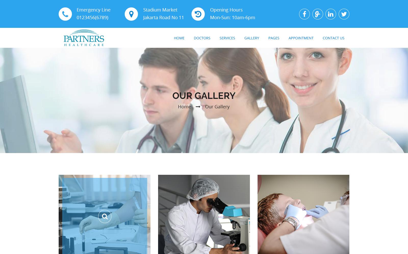 HealthCare - Medical Health PSD Template