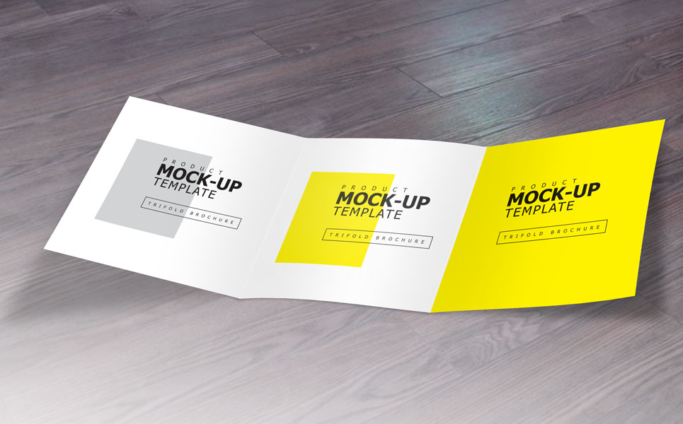 Square Trifold Product Mockups