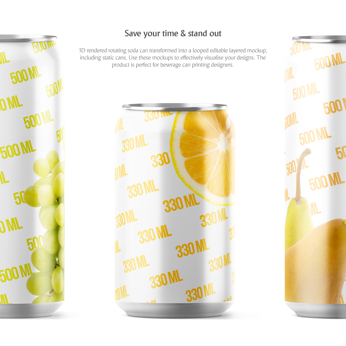 Soda Can Animated Product Mockups