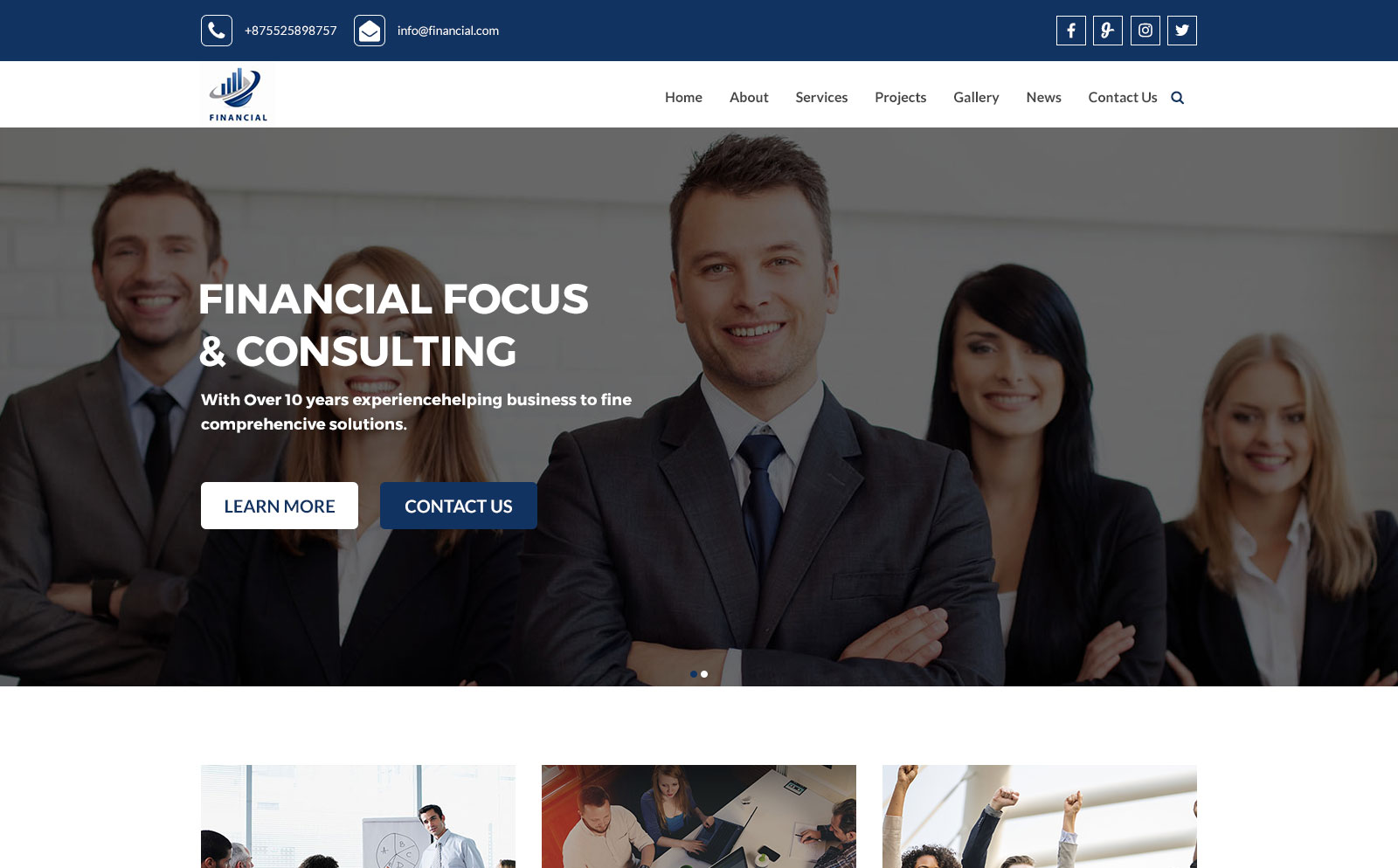 Financial - Business and Finance PSD Template