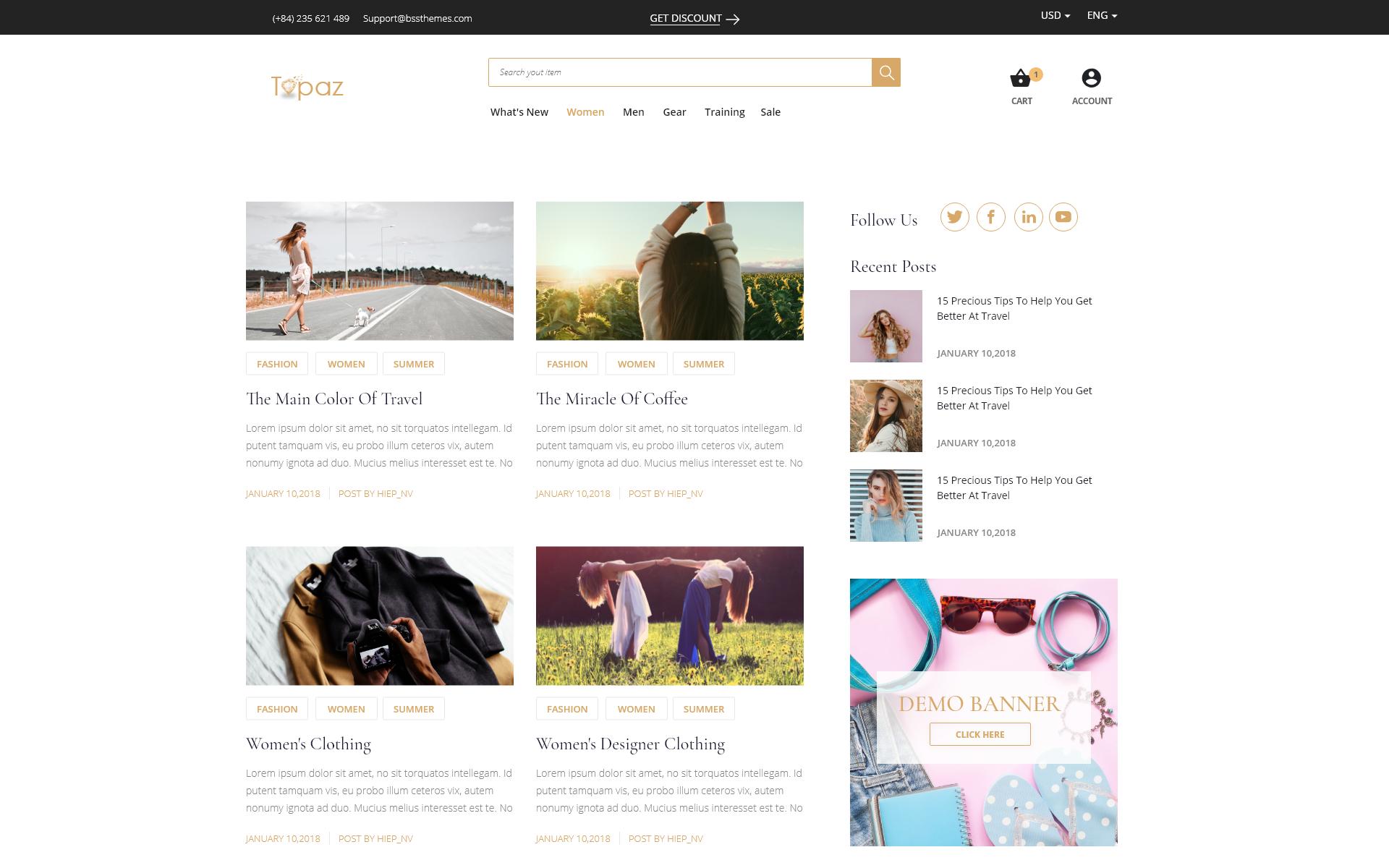 Topaz | Multi-purpose Responsive Magento Theme