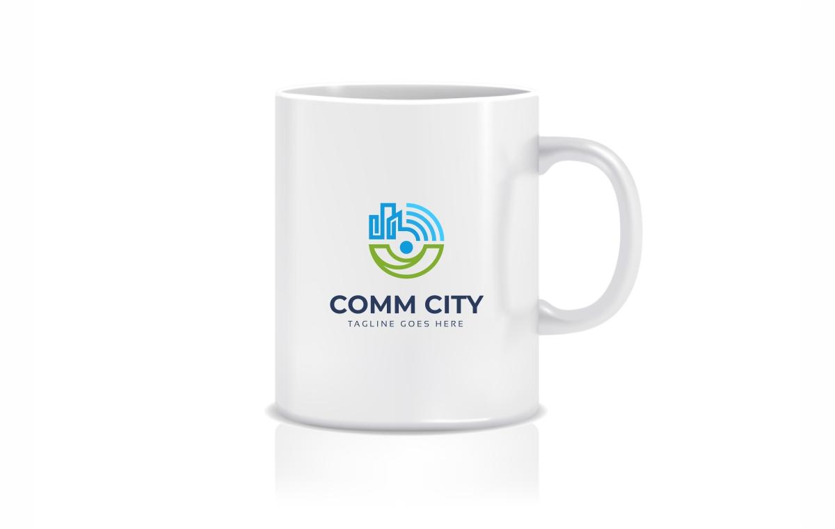Communication City Logo Template