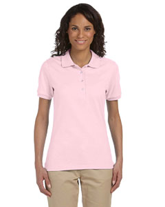UltraClub 8546 Ladies Short-Sleeve Whisper PiquPolo with Tipped Collar